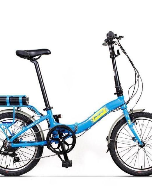 Bicicleta Pliabila Electrica Pegas Camping Dinamic E Bike Albastru