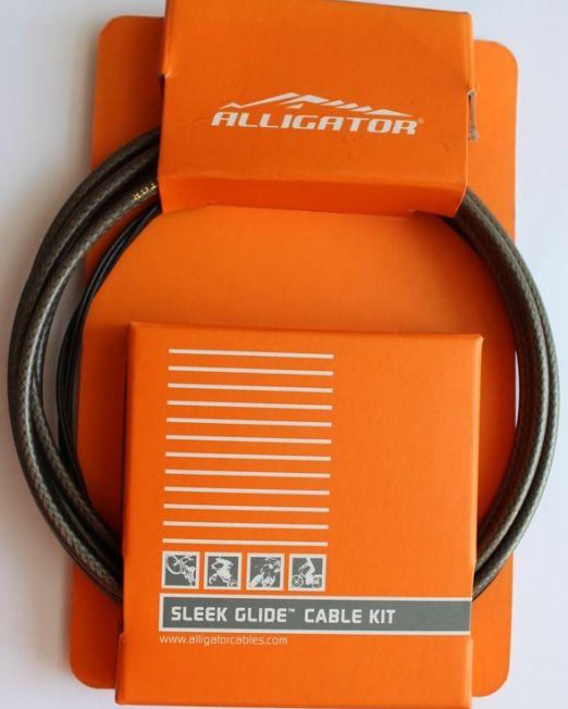 Set Cablu Frana Alligator Bptsb Sleek Glide, Universal, Fumuriu, Cabluri Ptfe+invelis Sp Multistrat+accesorii