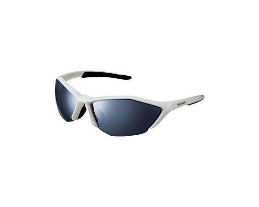 Eyewear Shimano Ce S61rpl, Frame Metallic White/black, Lences Polarized Grey Red Revo Hydrophobic, Clear Hydrophobic (17)