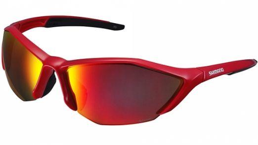 Ochelari Shimano S61r Pl Gloss Red/black, Lentile Polarized Grey Red Revo, Lentile Add. Hydrophobic Yellow (16)